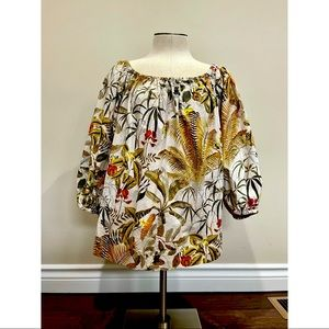 SOLD H&M Tropical Floral Top